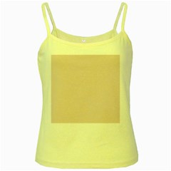 Solid Alice Pink in an English Country Garden Yellow Spaghetti Tank by PodArtist