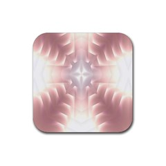 Neonite Abstract Pattern Neon Glow Background Rubber Square Coaster (4 Pack)