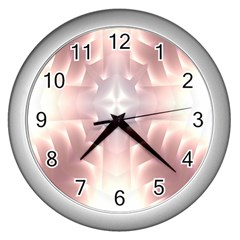 Neonite Abstract Pattern Neon Glow Background Wall Clocks (silver)