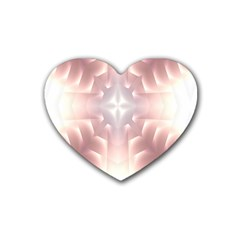 Neonite Abstract Pattern Neon Glow Background Rubber Coaster (heart)  by Nexatart