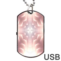 Neonite Abstract Pattern Neon Glow Background Dog Tag Usb Flash (two Sides) by Nexatart