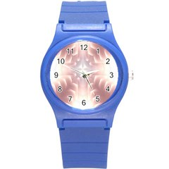 Neonite Abstract Pattern Neon Glow Background Round Plastic Sport Watch (s)