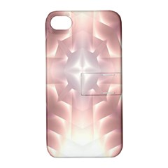 Neonite Abstract Pattern Neon Glow Background Apple Iphone 4/4s Hardshell Case With Stand