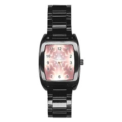 Neonite Abstract Pattern Neon Glow Background Stainless Steel Barrel Watch