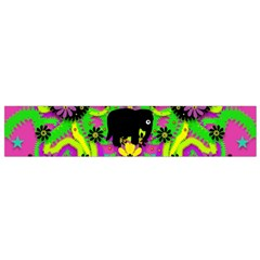 Jungle Life And Apples Flano Scarf (small) by pepitasart