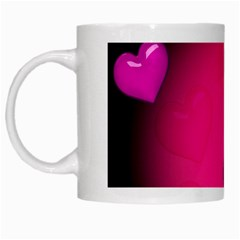 Pink Hearth Background Wallpaper Texture White Mugs