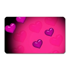 Pink Hearth Background Wallpaper Texture Magnet (rectangular) by Nexatart