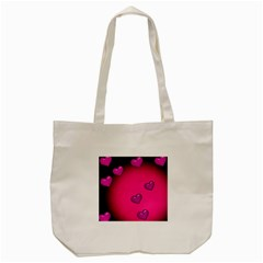 Pink Hearth Background Wallpaper Texture Tote Bag (cream) by Nexatart