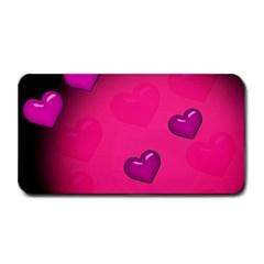 Pink Hearth Background Wallpaper Texture Medium Bar Mats by Nexatart