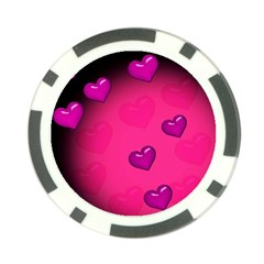 Pink Hearth Background Wallpaper Texture Poker Chip Card Guard (10 Pack)