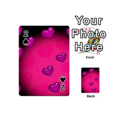 Pink Hearth Background Wallpaper Texture Playing Cards 54 (mini)