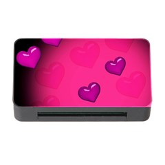 Pink Hearth Background Wallpaper Texture Memory Card Reader With Cf by Nexatart