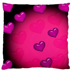 Pink Hearth Background Wallpaper Texture Large Cushion Case (one Side)
