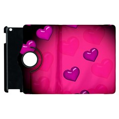 Pink Hearth Background Wallpaper Texture Apple Ipad 3/4 Flip 360 Case by Nexatart