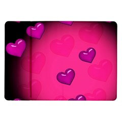 Pink Hearth Background Wallpaper Texture Samsung Galaxy Tab 10 1  P7500 Flip Case by Nexatart