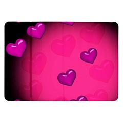 Pink Hearth Background Wallpaper Texture Samsung Galaxy Tab 8 9  P7300 Flip Case by Nexatart