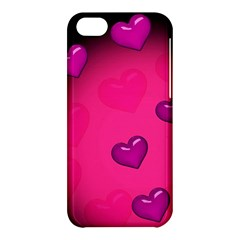 Pink Hearth Background Wallpaper Texture Apple Iphone 5c Hardshell Case by Nexatart