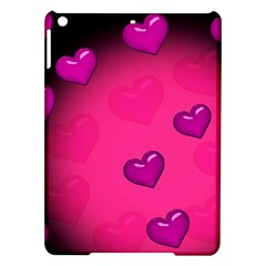 Pink Hearth Background Wallpaper Texture Ipad Air Hardshell Cases