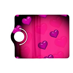 Pink Hearth Background Wallpaper Texture Kindle Fire Hd (2013) Flip 360 Case by Nexatart