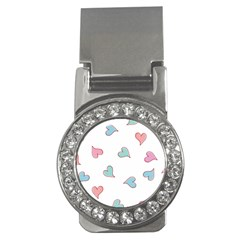 Colorful Random Hearts Money Clips (cz)  by Nexatart