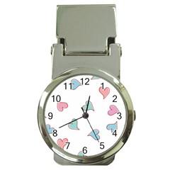 Colorful Random Hearts Money Clip Watches