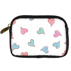 Colorful Random Hearts Digital Camera Cases