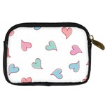 Colorful Random Hearts Digital Camera Cases Back