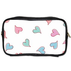 Colorful Random Hearts Toiletries Bags by Nexatart