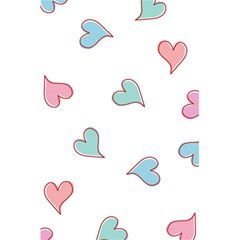 Colorful Random Hearts 5 5  X 8 5  Notebooks by Nexatart