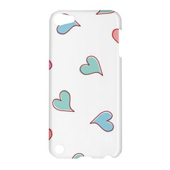 Colorful Random Hearts Apple Ipod Touch 5 Hardshell Case