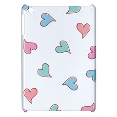 Colorful Random Hearts Apple Ipad Mini Hardshell Case by Nexatart