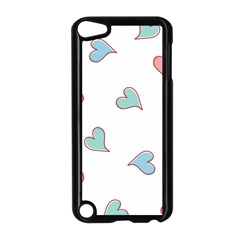 Colorful Random Hearts Apple Ipod Touch 5 Case (black) by Nexatart
