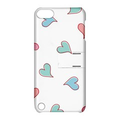 Colorful Random Hearts Apple Ipod Touch 5 Hardshell Case With Stand