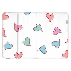 Colorful Random Hearts Samsung Galaxy Tab 8.9  P7300 Flip Case by Nexatart