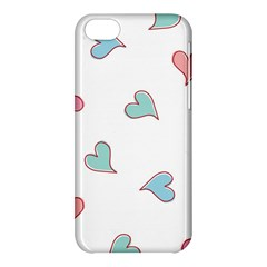 Colorful Random Hearts Apple Iphone 5c Hardshell Case by Nexatart