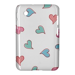 Colorful Random Hearts Samsung Galaxy Tab 2 (7 ) P3100 Hardshell Case
