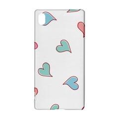Colorful Random Hearts Sony Xperia Z3+ by Nexatart