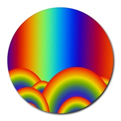 Background Rainbow Round Mousepads by Nexatart