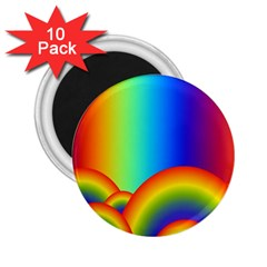 Background Rainbow 2 25  Magnets (10 Pack)  by Nexatart