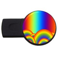 Background Rainbow Usb Flash Drive Round (2 Gb)
