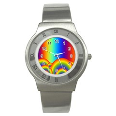 Background Rainbow Stainless Steel Watch
