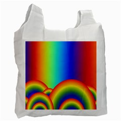 Background Rainbow Recycle Bag (one Side) by Nexatart