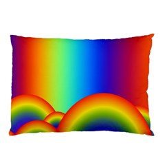 Background Rainbow Pillow Case (two Sides)