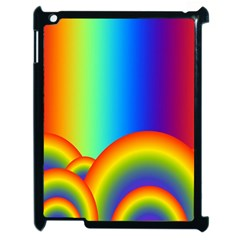 Background Rainbow Apple Ipad 2 Case (black) by Nexatart