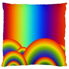 Background Rainbow Large Cushion Case (one Side) by Nexatart
