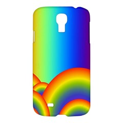 Background Rainbow Samsung Galaxy S4 I9500/i9505 Hardshell Case