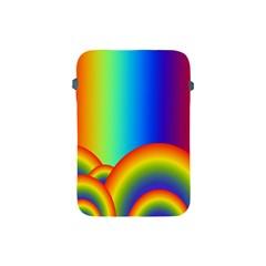 Background Rainbow Apple Ipad Mini Protective Soft Cases by Nexatart