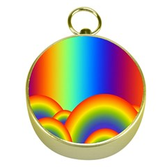 Background Rainbow Gold Compasses
