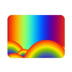 Background Rainbow Double Sided Flano Blanket (mini)