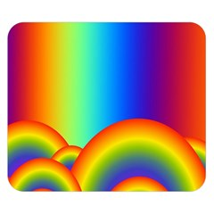 Background Rainbow Double Sided Flano Blanket (small)  by Nexatart